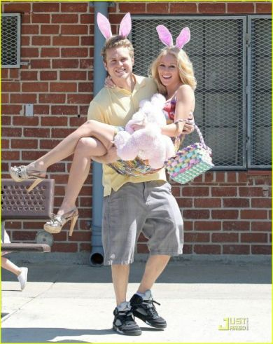 "Heidi Montag and husband Spencer Pratt celebrating the Holy Easter holiday together.  Everyone knows how ""Christian"" Heidi claims to be."