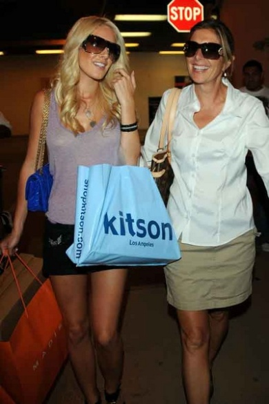 Heidi with her mom during happier times.
