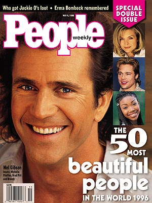 Mel Gibson's in People Magazine's 50 Most Beautiful People