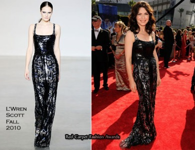Julianna Marguliesin in a L'Wren Scott