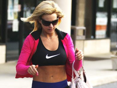 Kate Gosselin Shows Off The Abs and Hits The Gym!