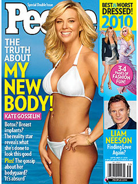Kate Gosselin in last week's 'People Magazine' Cover!!!  No Underwire There!
