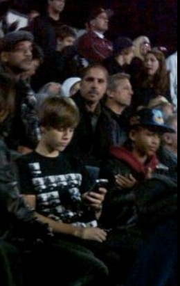 Justin Bieber with Jaden Smith at Moorpark High