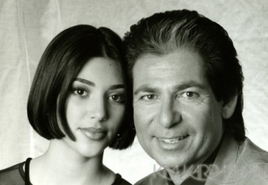 Kim With Her Dad Robert kardashian