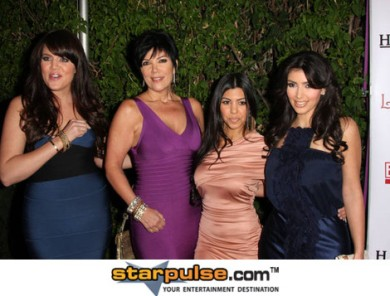 Kris Jenner With Her Kardashian Girls