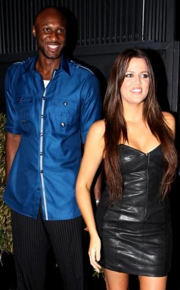 Khloe and Lamar Odom