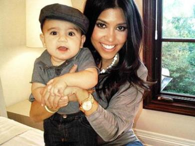 Kourtney with Adorable Baby Mason