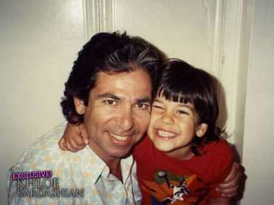 Robert Kardashian with Son Rob Kardashian