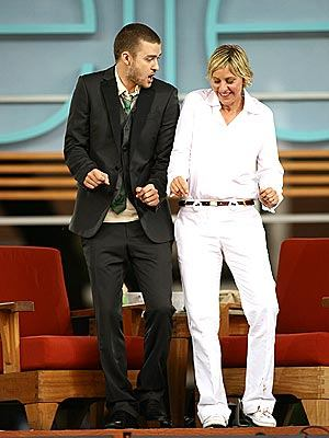 Ellen Busts A Move With Justin Timberlake!