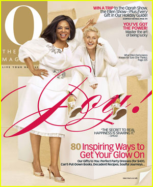 Ellen On The Cover of O Magazine With Oprah!